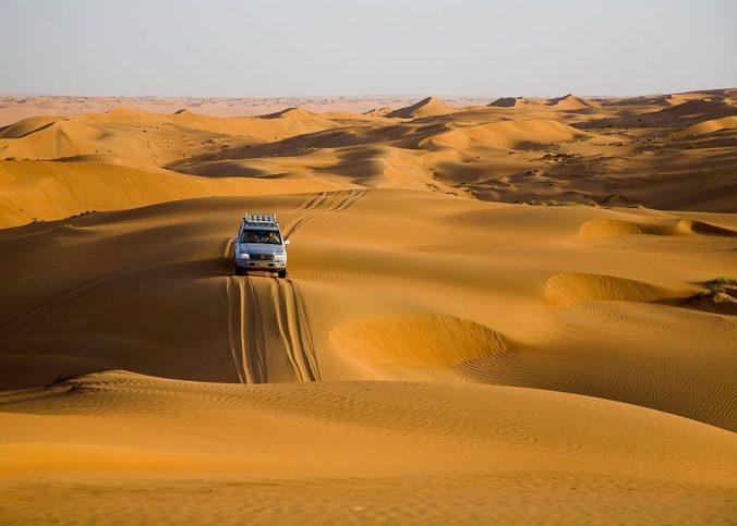 Wahiba Sands à Oman au Moyen-Orient