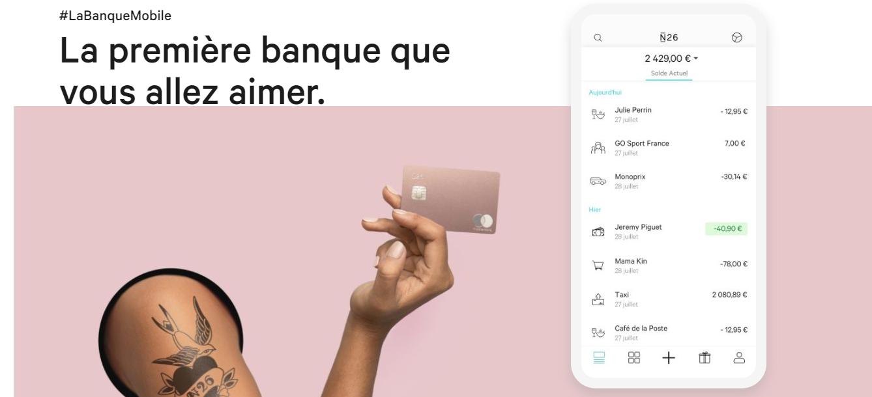 n26 banque mobile